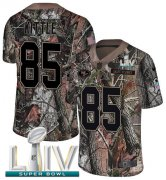Wholesale Cheap Nike 49ers #85 George Kittle Camo Super Bowl LIV 2020 Men's Stitched NFL Limited Rush Realtree Jersey