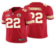 Wholesale Cheap Men's Kansas City Chiefs #22 Juan Thornhill Red 2021 Super Bowl LV Limited Stitched NFL Jersey