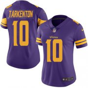 Wholesale Cheap Nike Vikings #10 Fran Tarkenton Purple Women's Stitched NFL Limited Rush Jersey