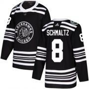 Wholesale Cheap Adidas Blackhawks #8 Nick Schmaltz Black Authentic 2019 Winter Classic Stitched NHL Jersey