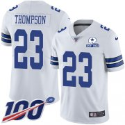 Wholesale Cheap Nike Cowboys #23 Darian Thompson White Men's Stitched With Established In 1960 Patch NFL 100th Season Vapor Untouchable Limited Jersey