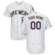 Wholesale Cheap Milwaukee Brewers Majestic Alternate Flex Base Authentic Collection Custom Jersey White