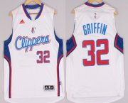 Wholesale Cheap Los Angeles Clippers #32 Blake Griffin Revolution 30 Swingman 2014 New White Jersey