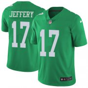Wholesale Cheap Nike Eagles #17 Alshon Jeffery Green Youth Stitched NFL Limited Rush Jersey