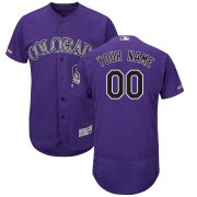 Wholesale Cheap Colorado Rockies Majestic Alternate Flex Base Authentic Collection Custom Jersey Purple