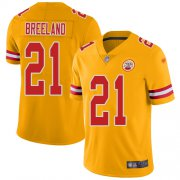 Wholesale Cheap Nike Chiefs #21 Bashaud Breeland Gold Men's Stitched NFL Limited Inverted Legend Jersey
