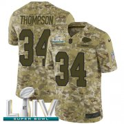 Wholesale Cheap Nike Chiefs #34 Darwin Thompson Camo Super Bowl LIV 2020 Men's Stitched NFL Limited 2018 Salute To Service Jersey