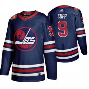 Wholesale Cheap Winnipeg Jets #9 Andrew Copp Men's 2019-20 Heritage Classic Wha Navy Stitched NHL Jersey