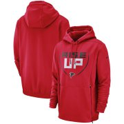 Wholesale Cheap Atlanta Falcons Nike Sideline Local Performance Pullover Hoodie Red