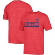 Wholesale Cheap Bayern Munich adidas Bar None Tri-Blend T-Shirt Heathered Red