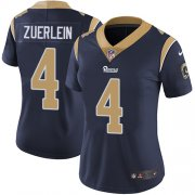 Wholesale Cheap Nike Rams #4 Greg Zuerlein Navy Blue Team Color Women's Stitched NFL Vapor Untouchable Limited Jersey