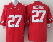 Wholesale Cheap Ohio State Buckeyes #27 Eddie George 2014 Red Limited Jersey