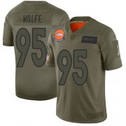 Wholesale Cheap Nike Broncos #95 Derek Wolfe Camo Men's Stitched NFL Limited 2019 Salute To Service Jersey