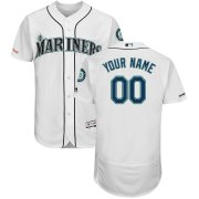 Wholesale Cheap Seattle Mariners Majestic Home Flex Base Authentic Collection Custom Jersey White