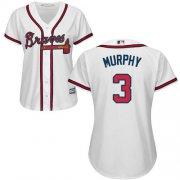 Wholesale Cheap Braves #3 Dale Murphy White Home Women's Stitched MLB Jersey