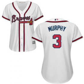 Wholesale Cheap Braves #3 Dale Murphy White Home Women\'s Stitched MLB Jersey