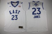 Wholesale Cheap 2015-16 NBA Eastern All-Stars Men's #23 LeBron James Revolution 30 Swingman White Jersey
