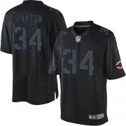 Wholesale Cheap Nike Bears #34 Walter Payton Black Men's Stitched NFL Impact Limited Jersey