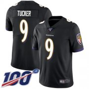 Wholesale Cheap Nike Ravens #9 Justin Tucker Black Alternate Men's Stitched NFL 100th Season Vapor Limited Jersey