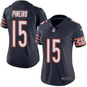 Wholesale Cheap Nike Bears #15 Eddy Pineiro Navy Blue Team Color Women's Stitched NFL Vapor Untouchable Limited Jersey