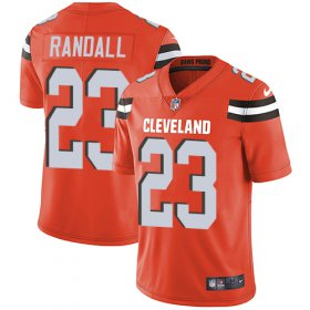 Wholesale Cheap Nike Browns #23 Damarious Randall Orange Alternate Youth Stitched NFL Vapor Untouchable Limited Jersey