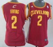 Wholesale Cheap Cleveland Cavaliers #2 Kyrie Irving Red Womens Jersey