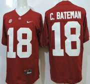 Wholesale Cheap Alabama Crimson Tide #18 Cooper Bateman Red 2015 College Football Nike Limited Jersey