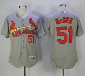Wholesale Cheap Cardinals #51 Willie McGee Grey Flexbase Authentic Collection Stitched MLB Jersey