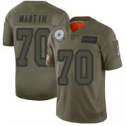 Wholesale Cheap Nike Cowboys #70 Zack Martin Camo Youth Stitched NFL Limited 2019 Salute to Service Jersey