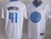 Wholesale Cheap Dallas Mavericks #41 Dirk Nowitzki Revolution 30 Swingman 2013 Christmas Day White Jersey