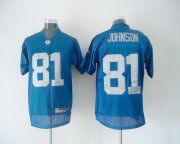 Wholesale Cheap Lions #81 Calvin Johnson Blue Stitched Throwback NFL Jersey