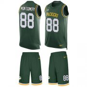 Wholesale Cheap Nike Packers #88 Ty Montgomery Green Team Color Men's Stitched NFL Limited Tank Top Suit Jersey