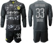 Wholesale Cheap Dortmund #33 Weigl Away Long Sleeves Soccer Club Jersey