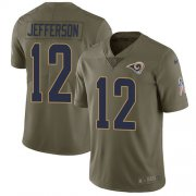 Wholesale Cheap Nike Rams #12 Van Jefferson Olive Men's Stitched NFL Limited 2017 Salute To Service Jersey