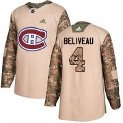 Wholesale Cheap Adidas Canadiens #4 Jean Beliveau Camo Authentic 2017 Veterans Day Stitched Youth NHL Jersey