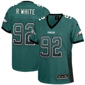 Wholesale Cheap Nike Eagles #92 Reggie White Midnight Green Team Color Women\'s Stitched NFL Elite Drift Fashion Jersey