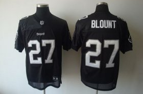Wholesale Cheap Buccaneers #27 LeGarrette Blount Black Shadow Stitched NFL Jersey