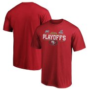 Wholesale Cheap San Francisco 49ers 2019 NFL Playoffs Bound Chip Shot T-Shirt Scarlet
