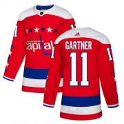 Wholesale Cheap Adidas Capitals #11 Mike Gartner Red Alternate Authentic Stitched NHL Jersey
