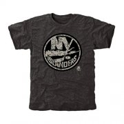 Wholesale Cheap Men's New York Islanders Black Rink Warrior T-Shirt