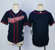 Wholesale Cheap Twins Blank Navy Blue Cool Base Stitched Youth MLB Jersey