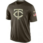 Wholesale Men's Minnesota Twins Salute To Service Nike Dri-FIT T-Shirt