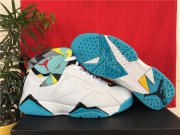 Wholesale Cheap Air Jordan 7 Retro Shoes White/blue-yellow-red