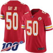 Wholesale Cheap Nike Chiefs #50 Willie Gay Jr. Red Team Color Youth Stitched NFL 100th Season Vapor Untouchable Limited Jersey