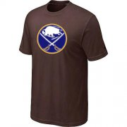 Wholesale Cheap Buffalo Sabres Big & Tall Logo Brown NHL T-Shirt