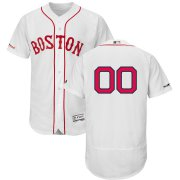Wholesale Cheap Boston Red Sox Majestic Alternate Authentic Collection Flex Base Custom Jersey White