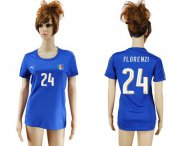 Wholesale Cheap Women's Italy #24 Florenzi Home Soccer Country Jersey