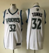 Wholesale Cheap Men's Minnesota Timberwolves #32 Karl-Anthony Towns Revolution 30 Swingman White Jersey