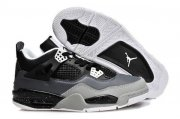 Wholesale Cheap Air Jordan 4 New Shoes Black/Light gray