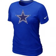 Wholesale Cheap Women's Nike Dallas Cowboys Logo NFL T-Shirt Blue